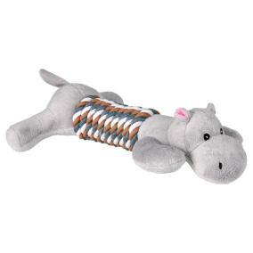 "Трикси Игрушка для собаки ""Собака и Бегемот"", с веревкой, 32 см, плюш / х/б, (4 шт.), Trixie"