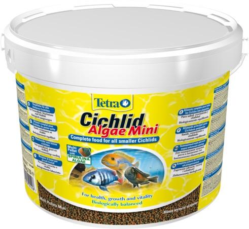Тетра Корм Cichlid Algae Mini растительный для всех небольших цихлид, гранулы, 2 весовки, Tetra