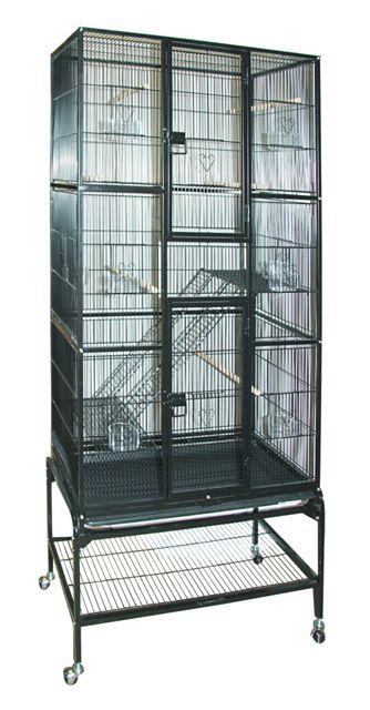 Триол Клетка для птиц, грызунов, хорьков 5005, 81*47*176 см, в ассортименте, Triol
