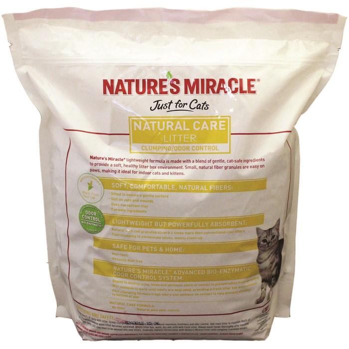 8in1 Натуральный кукурузный комкующийся наполнитель для туалетов NM Premium Natural Care, 4,5 кг (10л), Natures Miracle