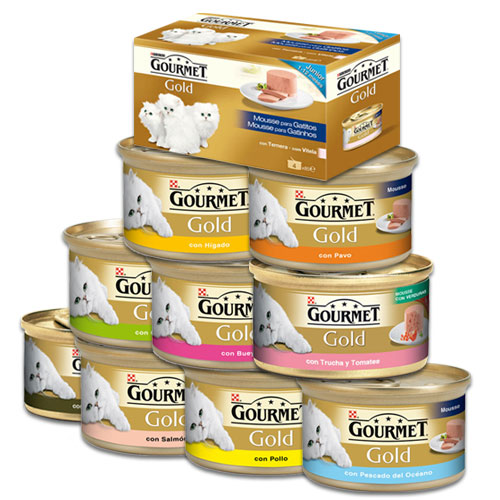 Консервы Gourmet Gold для взрослых кошек кусочки в подливке, 24*85 г, в ассортименте, Gourmet