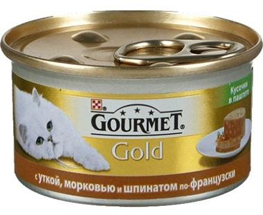 Консервы Gourmet Gold для взрослых кошек кусочки в паштете, 24*85 г, в ассортименте, Gourmet