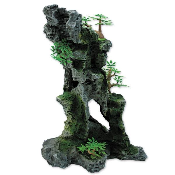 "Триол Декорация 002KD ""Скала с деревьями"", 23*17,5*32 см, Triol"