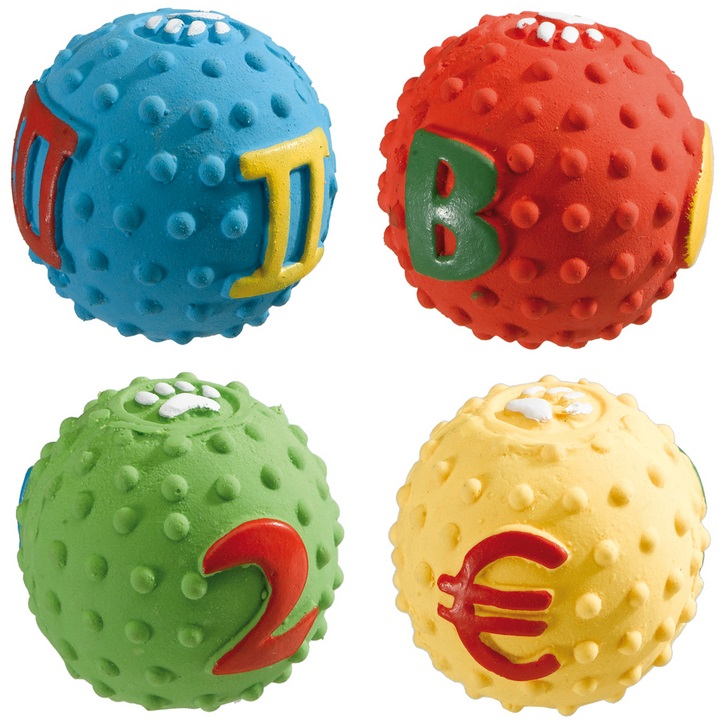 Ферпласт Мяч латексный PA 5535, диаметр 5 см, в ассортименте, Ferplast