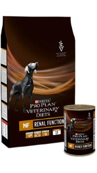 Ветеринари Диетс Корм сухой Diets NF Renal Function для собак при патологии почек, 3 кг, Purina Pro Plan
