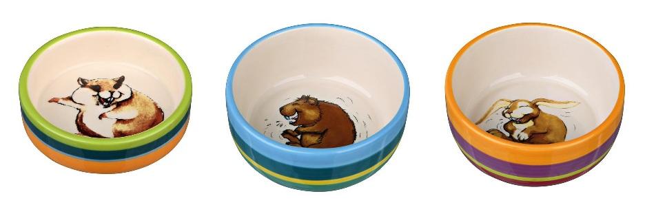 Трикси Керамическая миска для грызунов, в ассортименте, Trixie