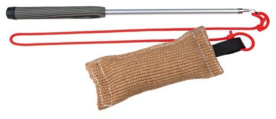 Трикси Удочка с выдвижным телескопическим стержнем и апортом на резинке, длина от 20 см до 2,3 м, Trixie