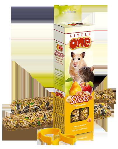 Литтл Уан Крекеры для хомяков, мышей и песчанок, 2 шт/уп, в ассортименте, Little One