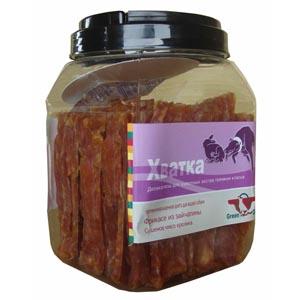 """Грин Кьюзин Лакомство """"Хватка"""" сушеное мясо кролика для щенков и взрослых собак, 750 г, Green Qzin"""