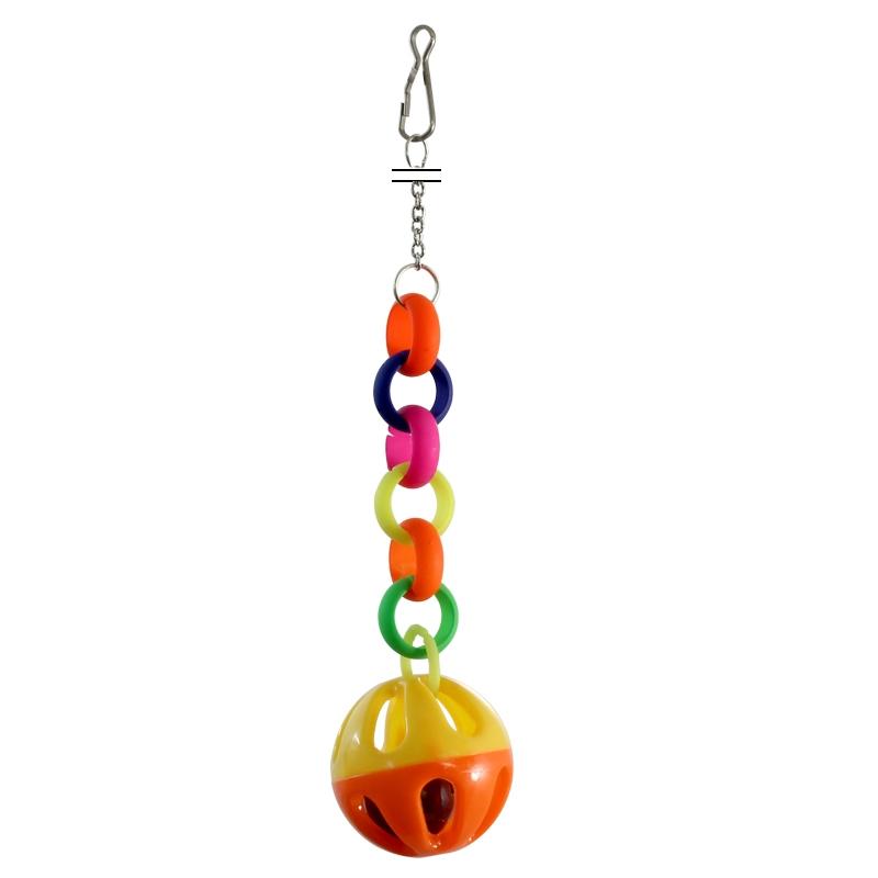 """Триол Игрушка-подвеска для птиц """"Звонкий шарик"""" 073-КХ, 20*4 см, Triol"""