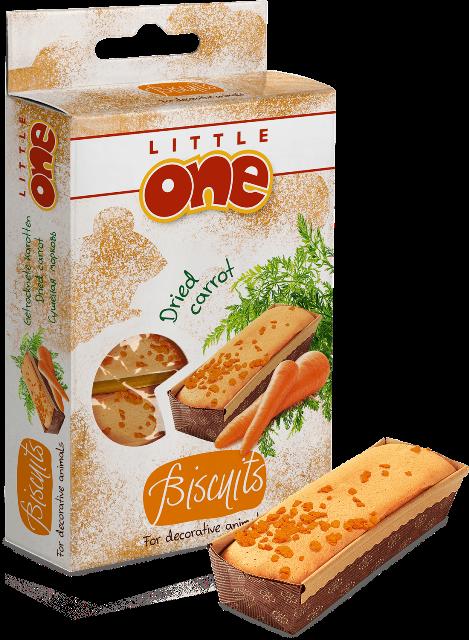 Литтл Уан Бисквиты с морковью для хомяков, крыс, мышей и песчанок, 35 г, Little One