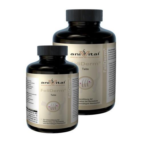 Анивитал Витаминный комплекс FeliDerm (Фелидерм) для улучшения состояния кожи и шерсти у кошек, в ассортименте, Anivital