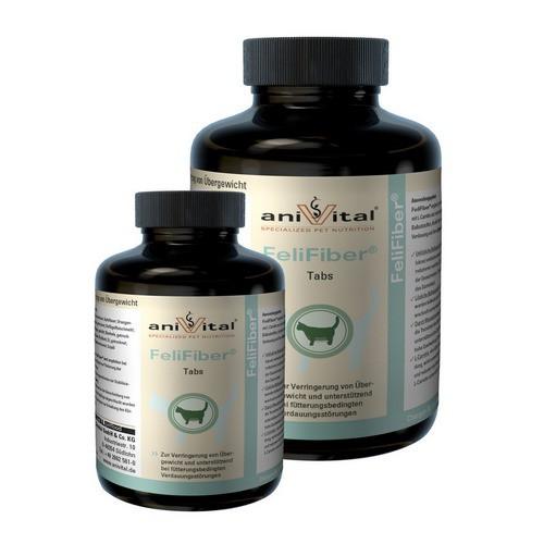 Анивитал Витаминный комплекс FeliFiber (Фелифайбер) для снижения избыточного веса и регуляции проблем пищеварения у кошек, 70 г (около 140 таб.), Anivital