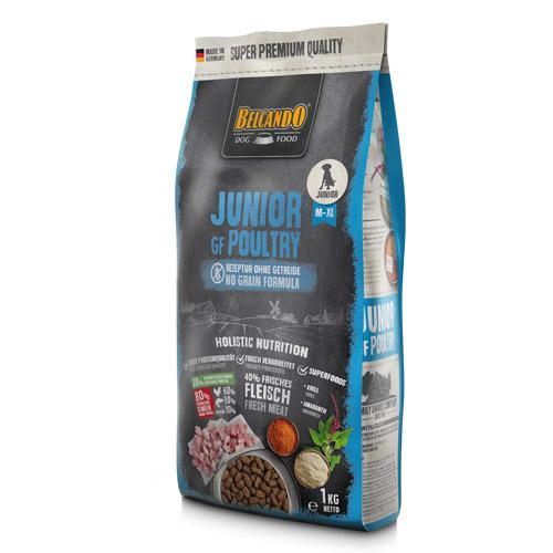 NEW Белькандо Корм сухой беззерновой Junior GF Poultry (Junior Grain-Free) для щенков средних и крупных пород от 4 до 18 месяцев, Птица, в ассортименте, Belcando