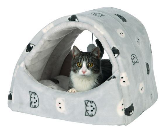 Трикси Домик-пещера со съемной подушкой Mimi, 42*35*35 см, серый, Trixie