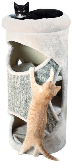 Трикси Домик-башня для кошек Gracia, 38*85 см, замша/плюш, Trixie