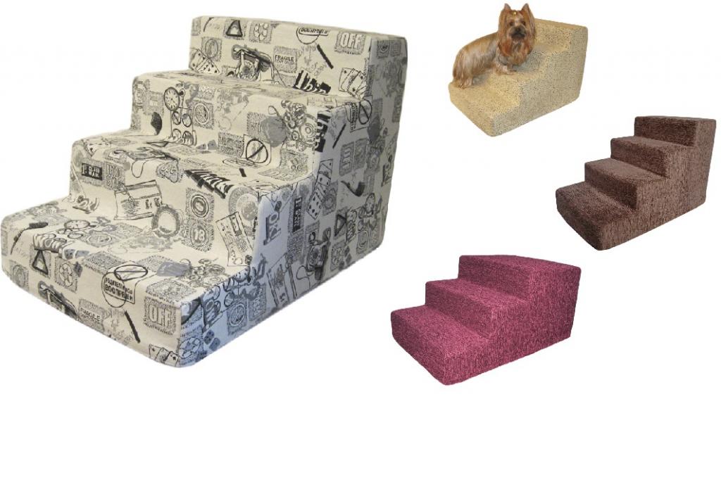 Приставная лесенка для собак и кошек со съемным чехлом, в ассортименте