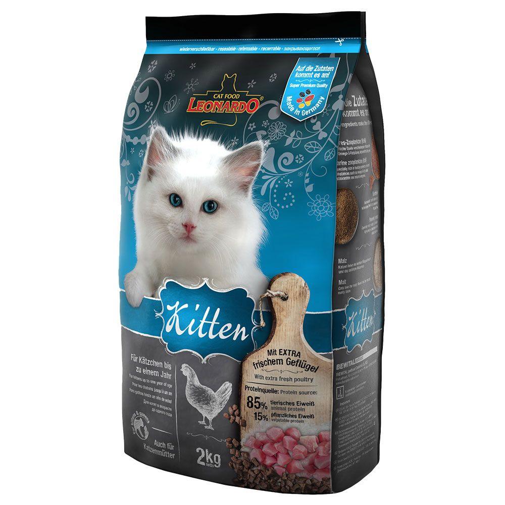 Леонардо Корм сухой Kitten для котят до 12 месяцев, для беременных и кормящих кошек, в ассортименте, Leonardo