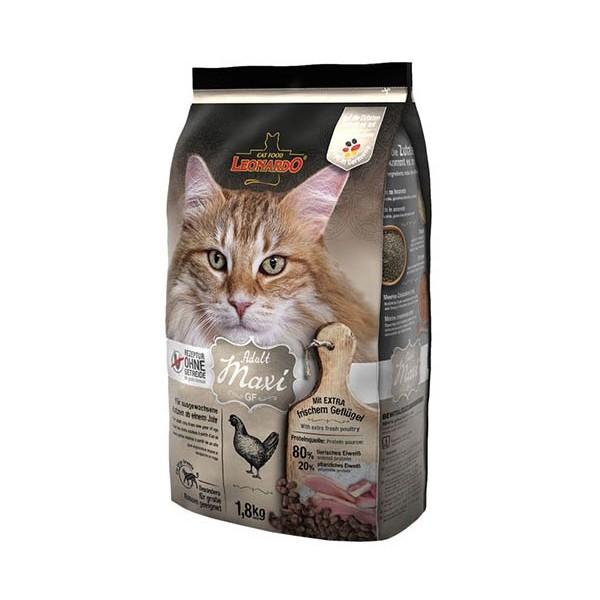 Леонардо Корм сухой беззерновой Adult Maxi GF для кошек крупных пород, в ассортименте, Leonardo