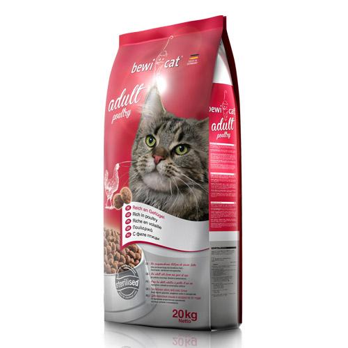 Беви Кэт Корм сухой Adult Poultry для кошек, Курица, в ассортименте, BewiCat