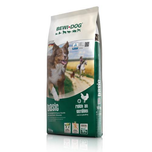Беви Дог Корм сухой Basic для взрослых собак с нормальным уровнем активности, 12,5 кг, BewiDog