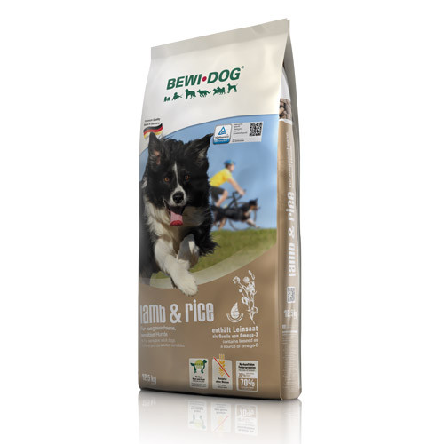 Беви Дог Корм сухой гипоаллергенный Lamb Rice для собак, Ягненок/Рис, 12,5 кг, BewiDog