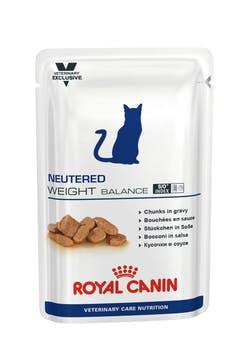 Пауч Роял Канин Neutered Weight Balance для кастрированных/стерилизованных котов и кошек склонных к избыточному весу, 12*100 г, Royal Canin