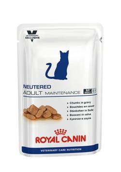 Пауч Роял Канин Neutered Adult Maitenance для кастрированных/стерилизованных котов/кошек до 7 лет, 12*100 г, Royal Canin