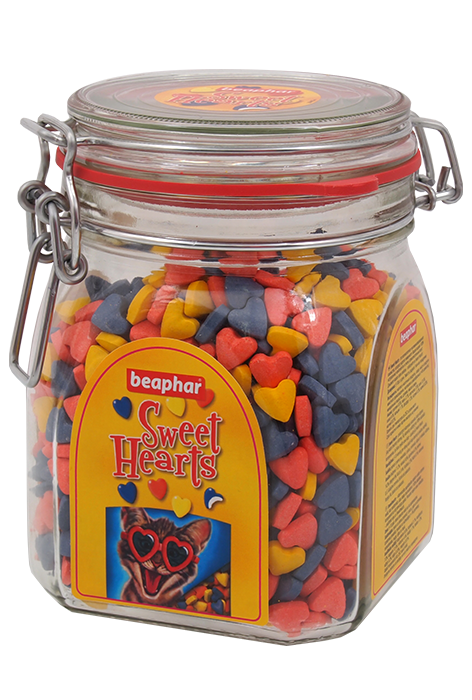 Беафар Лакомство Витаминизированное сердечки Sweet Hearts для кошек, в ассортименте, Beaphar