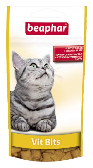 Беафар Подушечки Vit Bits с мультивитаминной пастой для кошек, в ассортименте, Beaphar