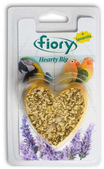 """Фиори Био-камень для птиц с лавандой """"Hearty Big"""" в форме сердца, в ассортименте, Fiory"""