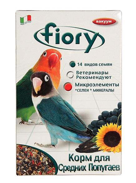 Фиори Корм Parrocchetti Africa для средних попугаев, в ассортименте, Fiory