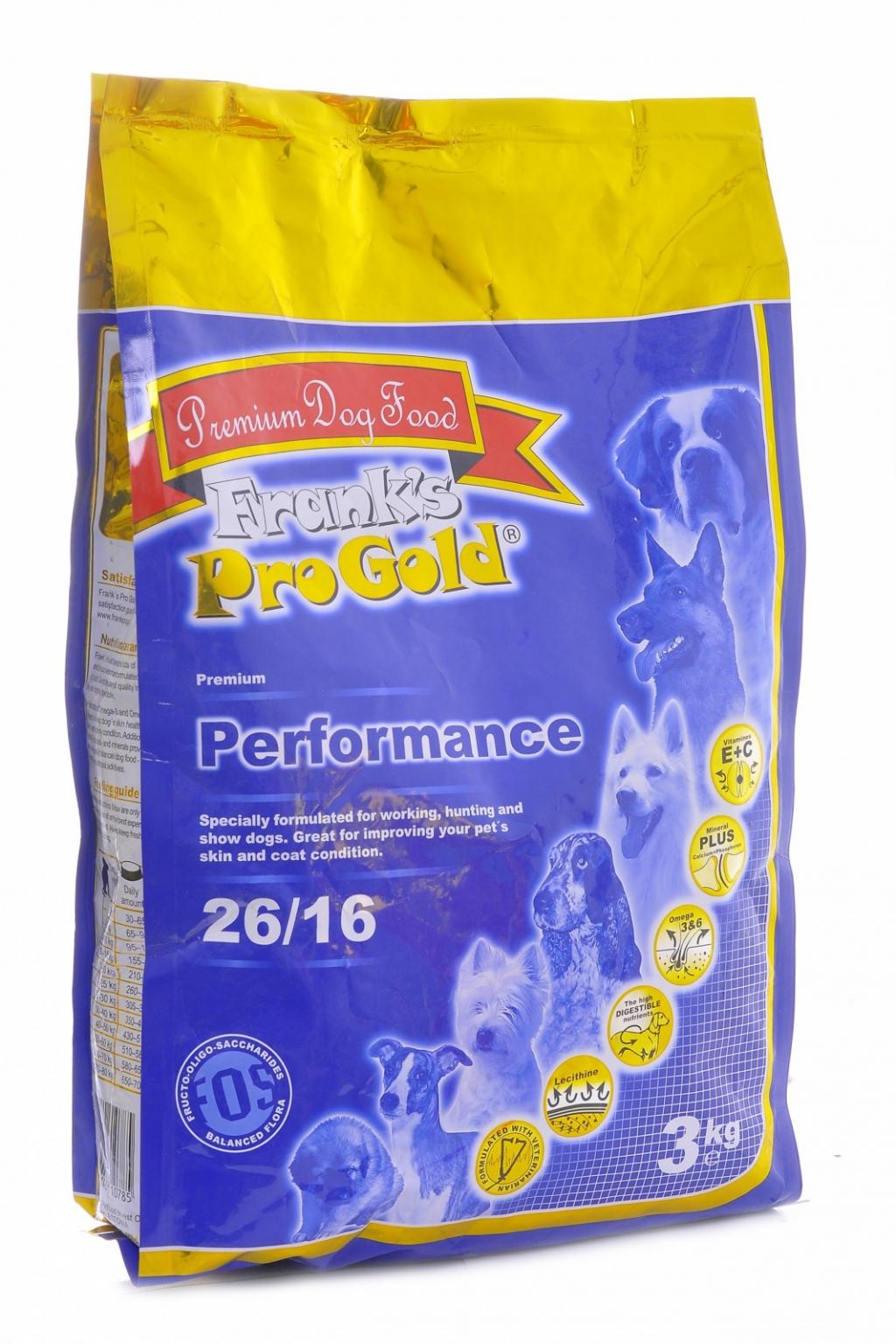 """Франкс Про Голд Корм сухой Performance 26/16 для энергичных собак """"Достойная победа"""", 15 кг, Frank's ProGold"""