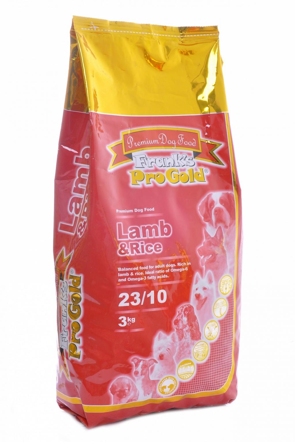 Франкс Про Голд Корм сухой Lamb and Rice 23/10 для собак с чувствительным пищеварением, Ягненок/Рис, 2 весовки, Frank's ProGold