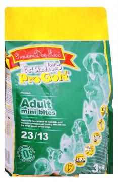 "Франкс Про Голд Корм сухой Adult Mini Bites 23/13 для собак малых пород ""Куриное барбекю"", 3 кг, Frank's ProGold"