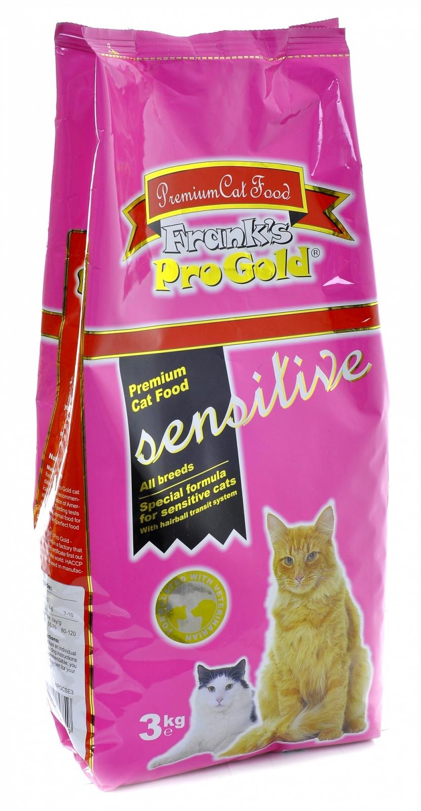 Франкс Про Голд Корм Sensitive 32/18 Ягненок по-голландски для кошек с чувствительным пищеварением, в ассортименте, Frank's ProGold