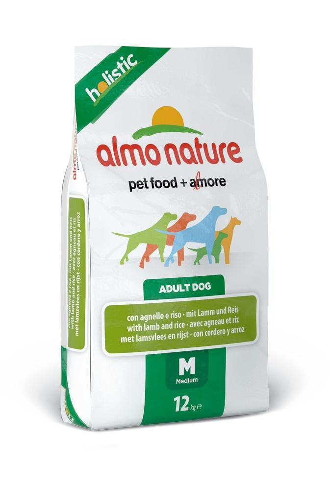 """Алмо Натуре Корм сухой """"Medium Lamb Holistic"""" для взрослых собак средних пород, Ягненок, 12 кг, Almo Nature"""