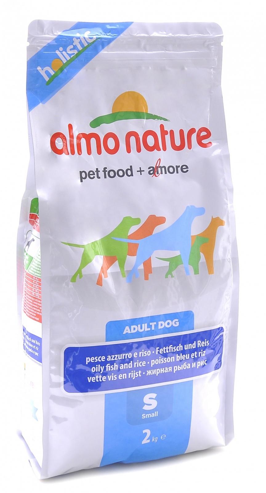 "Алмо Натуре Корм сухой ""Small Adult White Fish and Rice Holistic"" для взрослых собак малых пород, Рыба, 2 кг, Almo Nature"