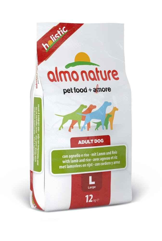 """Алмо Натуре Корм сухой """"Large Lamb Holistic"""" для взрослых собак крупных пород, Ягненок, 12 кг, Almo Nature"""