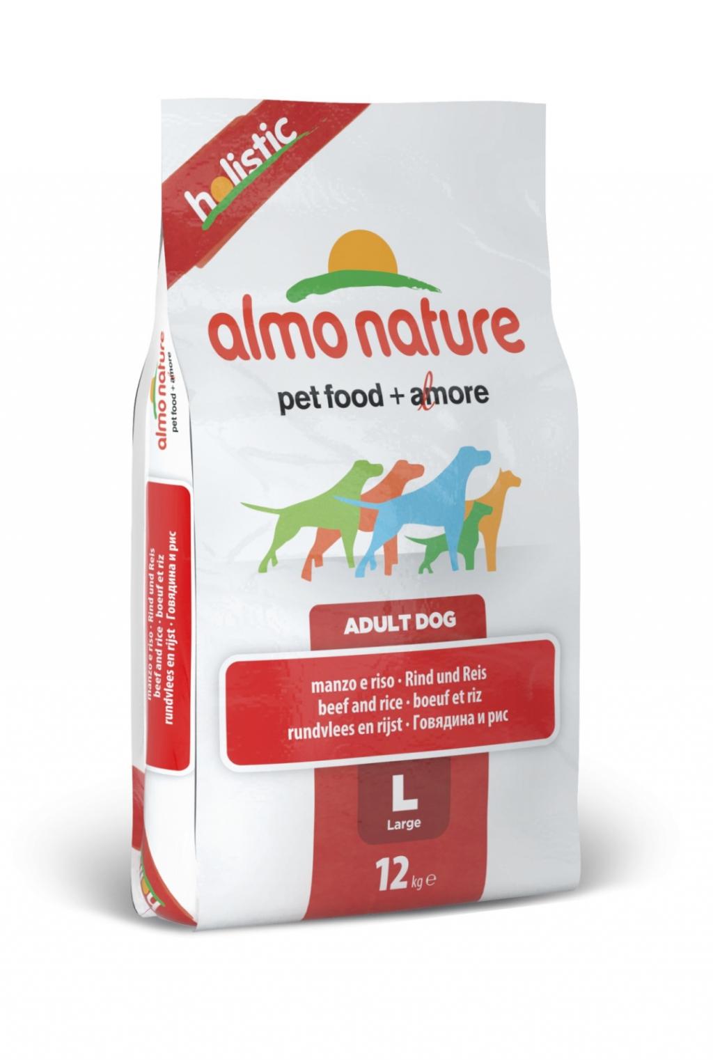Алмо Натуре Корм сухой Large Adult Beef and Rice Holistic для взрослых собак крупных пород, Говядина, 12 кг, Almo Nature
