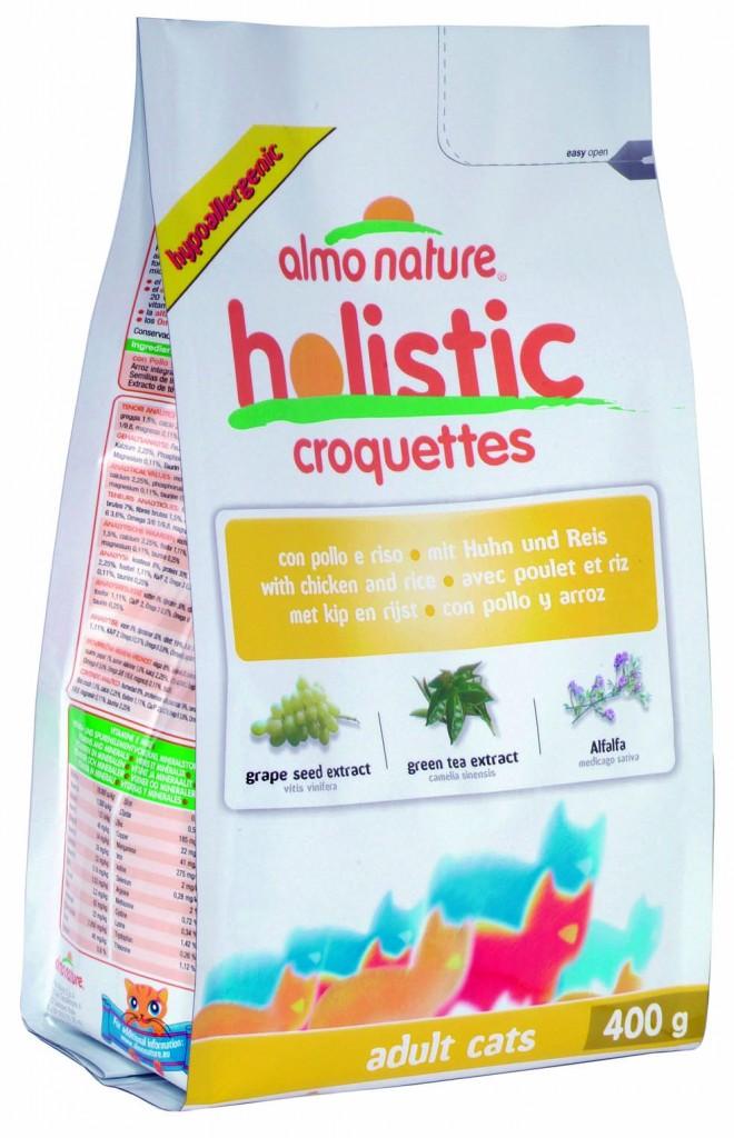 "Алмо Натуре Корм сухой ""Holistic Adult Cat Chicken Rice"" для кошек, Курица/Коричневый рис, в ассортименте, Almo Nature"