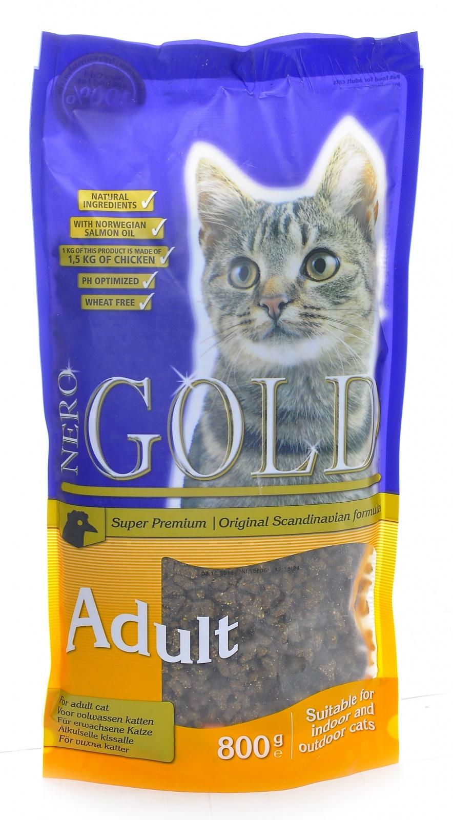 Неро Голд Корм сухой Cat Adult Chicken 32/18 для кошек, Курица, в ассортименте, Nero Gold