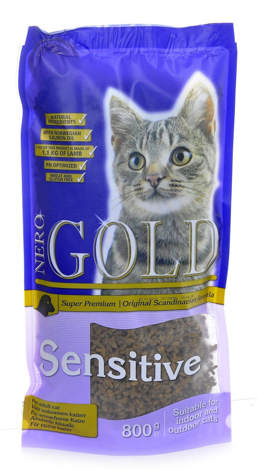 Неро Голд Корм сухой Cat Adult Sensitive для кошек с чувствительным пищеварением, Ягненок, в ассортименте, Nero Gold