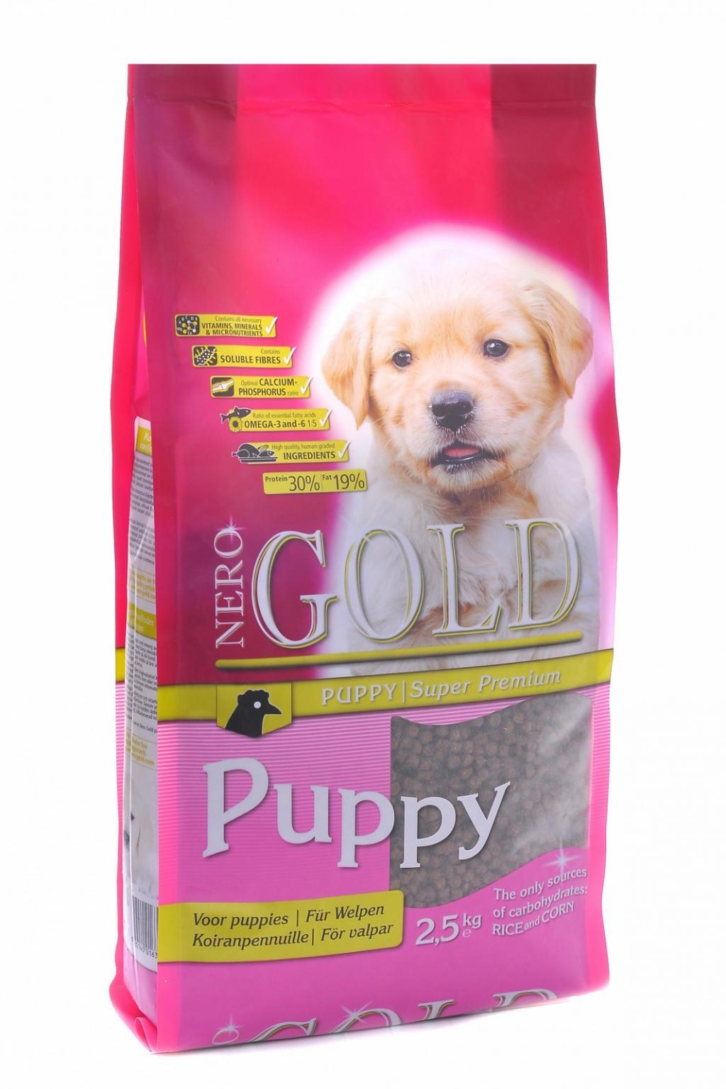 Неро Голд Корм сухой Puppy 30/19 для щенков всех пород, Курица/Рис, в ассортименте, Nero Gold