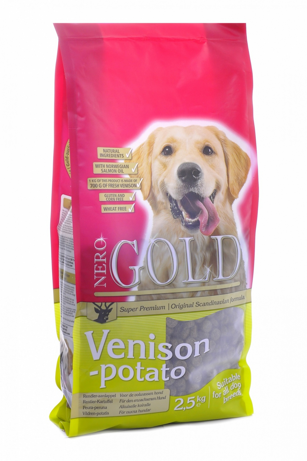 Неро Голд Корм сухой Venison Potato 20/10 для взрослых собак всех пород, Оленина/Сладкий картофель, в ассортименте, Nero Gold