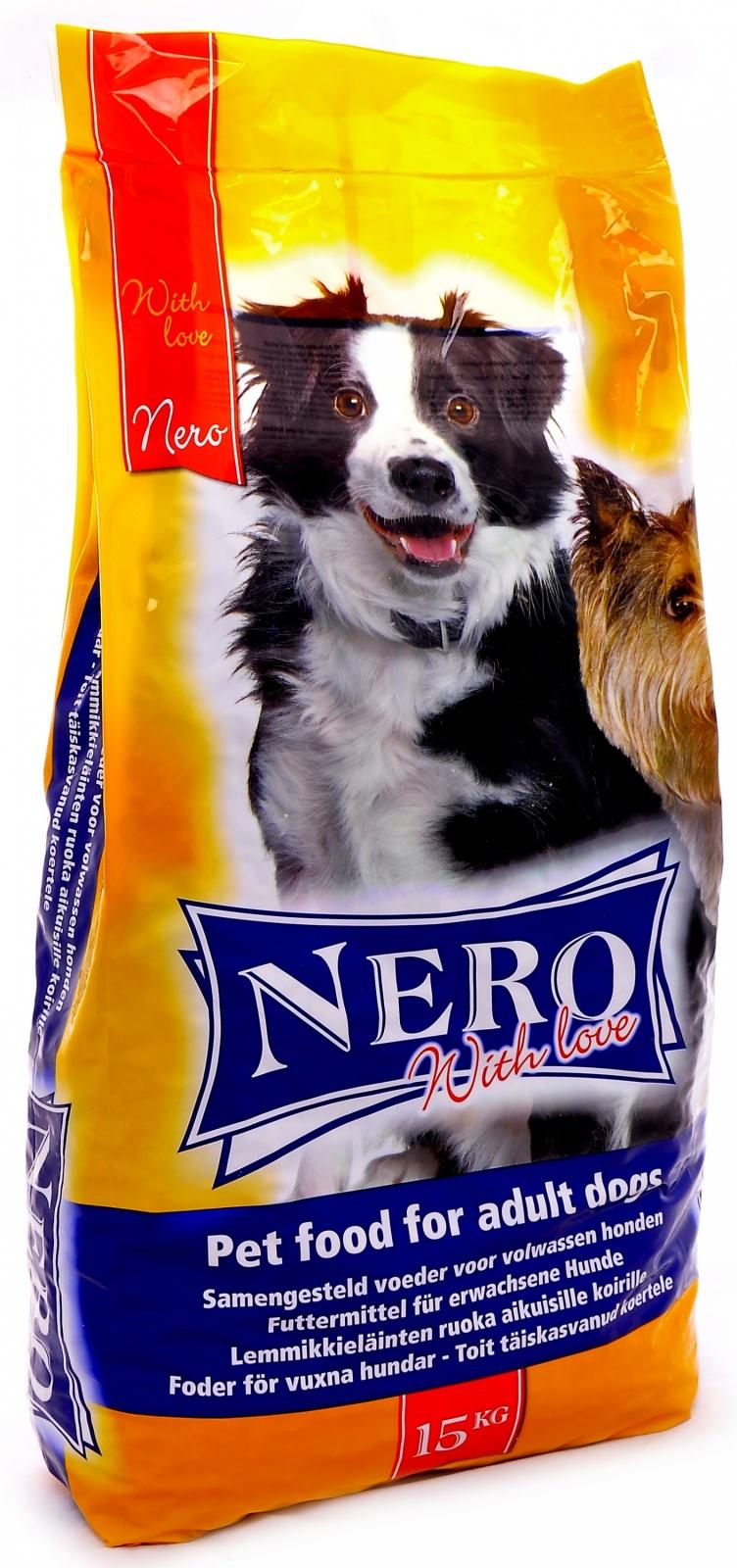 """Неро Голд Корм сухой Nero Economy with Love для собак всех пород """"Мясной коктейль"""", в ассортименте, Nero Gold"""