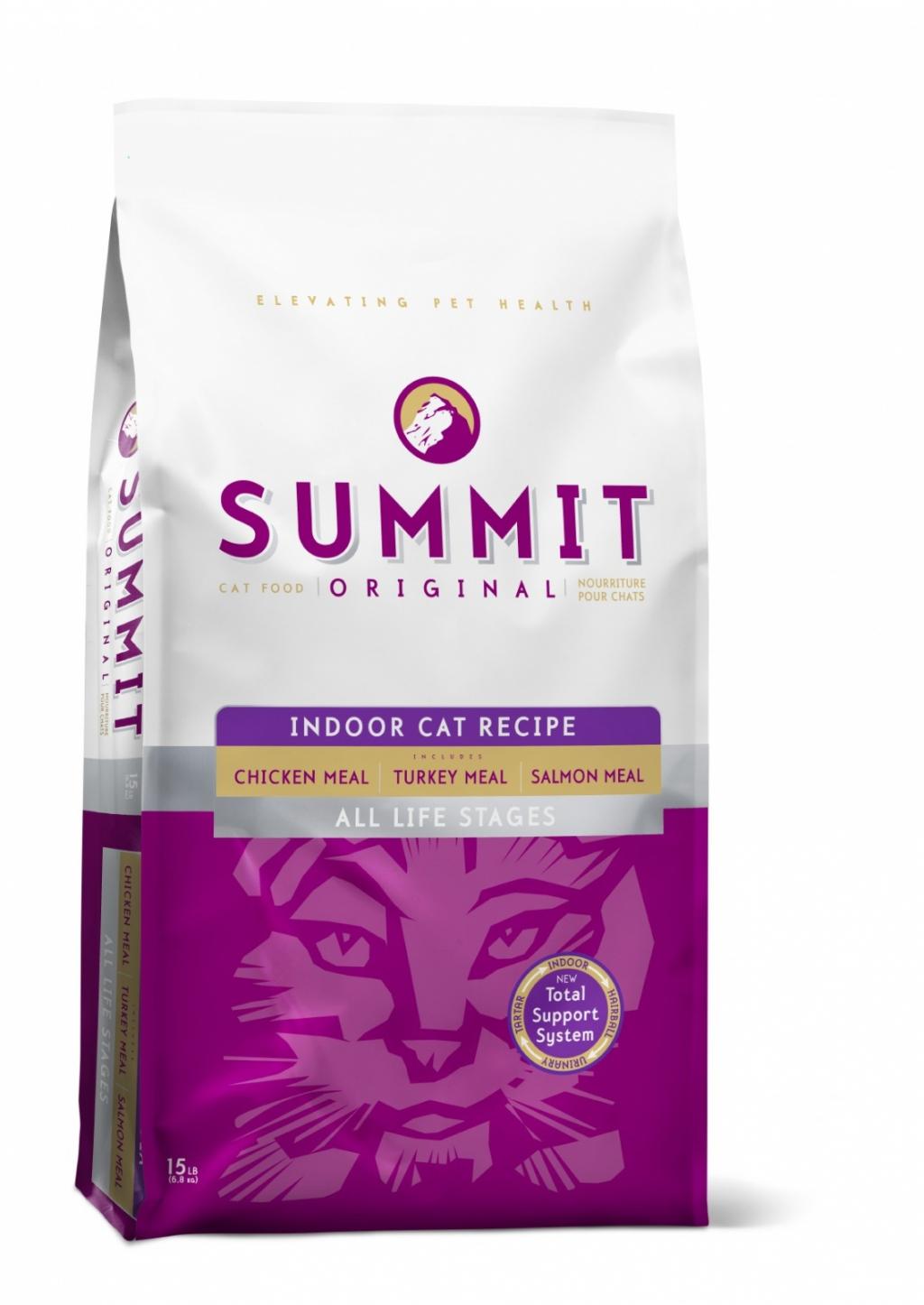 """Саммит Холистик Корм сухой """"Original 3 Meat, Indoor Cat Recipe CF"""" для домашних кошек, Цыпленок/Лосось/Индейка, 2 весовки, Summit Holistic"""