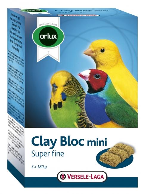 Верселе Лага Минеральный глиняный блок Orlux Clay Bloc mini для мелких птиц, 3*180 г, Versele-Laga
