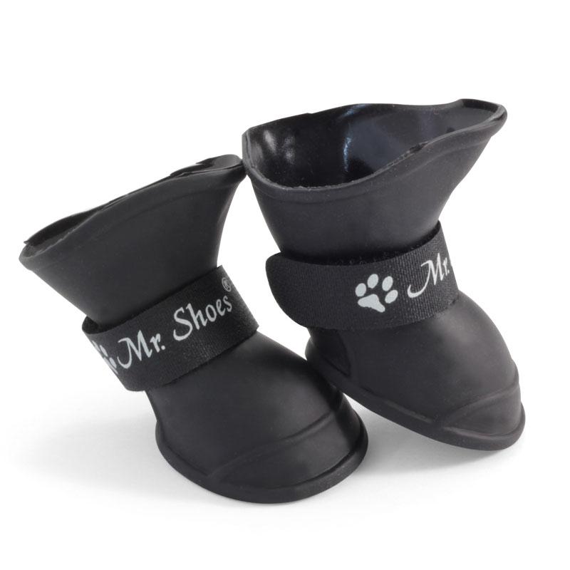 Триол Сапожки для собак, черные, пластичная резина, 3 размера, Triol