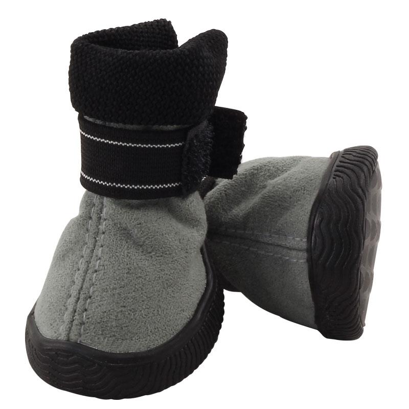 Триол Ботинки для собак 144YXS из замши с резиновой подошвой, 4 шт./уп., 4 размера, Triol